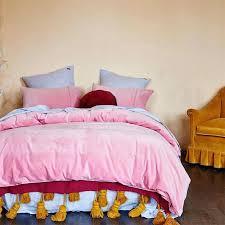 blush pink velvet quilt cover nectar kip co bedding web 2