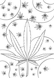 Attractive Design Ideas Weed Coloring Pages Psychedelic Page Free