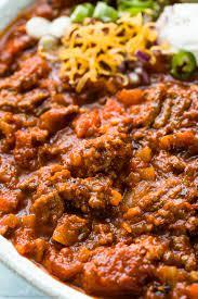 easy no bean chili recipe no spoon
