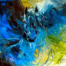 horse painting equus blue ghost by marcia baldwin