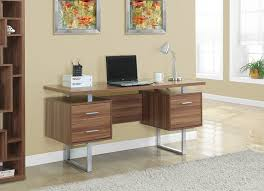 metal office desks. amazoncom monarch specialties walnut hollowcoresilver metal office desk 60inch kitchen u0026 dining desks