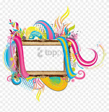 colourful photo frames png clipart