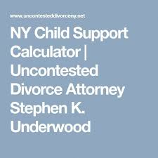 Nys Child Support Payment Chart Ny Child Support Calculator Uncontested Divorce Attorney
