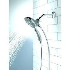 delta double shower head bathroom 5 setting multiple commercial doubl