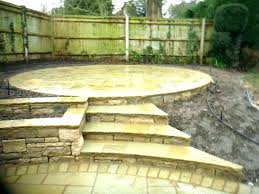 patio steps ideas raised patio ideas stone patio steps ideas stone garden steps and circular raised patio steps