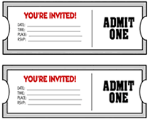 Invitation Ticket Template Free You're Invited Movie Ticket Invitation Template Wedding 18