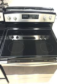 glass top stove stainless steel appliances in holiday fl amana burner