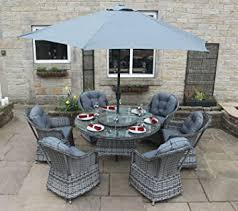 grey rattan garden dining sets. luxury grey rattan garden furniture 6 seat round dining set with parasol sets