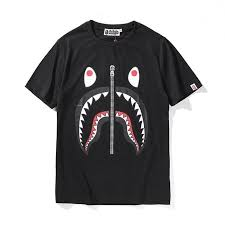 <b>Bape</b> Black Tee with <b>Shark</b> & Tiger <b>Printing</b> for Sale, Best T-Shirts ...