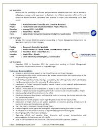 Job Profile Of Document Controller Senior Document Controller Pmt Administrative Support