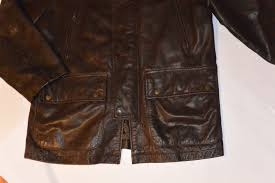 banana republic brown leather jacket front bottom view