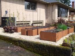 danger garden another discovered cor ten landscape corten steel raised beds