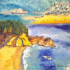 saatchi art artist dana richardson painting landscape painting california beach nature oil painting