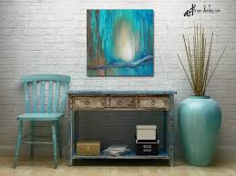 large wall art canvas turquoise teal