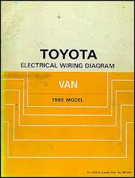 1985 toyota van wiring diagram manual original