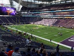 Us Bank Seating Chart Vikings U S Bank Stadium Section 124 Seat Views Seatgeek
