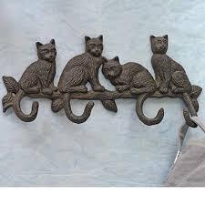 Cat Coat Rack Home Garden CastIron Cat Coat Rack 1