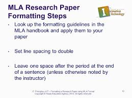Steps To Writing A Research Paper Using Mla Format Term Paper Sample