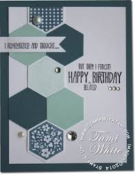 Birthday Card Sample Inspiration CARD Six Sided Sampler Birthday Stampin Up Demonstrator Tami