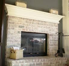 image of painting interior brick fireplace ideas