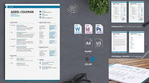Photoshop Resume Template Simple Best Professional Resume Templates Psd Word AI Format Collection