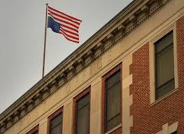 The Day Flag Flies Upside Down Over New London Post Office For