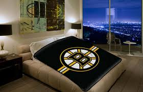 bedding set twin single size boston bruins dry panels by nhl bruins blanket 2