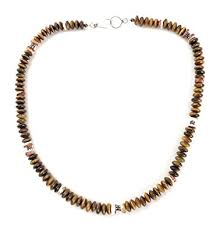 masha sterling silver necklace by tigers eye stone spiny oyster made in usa