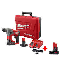 milwaukee m12 logo. milwaukee m12 fuel 5/8 in. cordless sds-plus rotary hammer kit-2416-22xc - the home depot logo