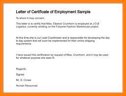 6 Certificate Of Employment Sample Format Handyman Resume