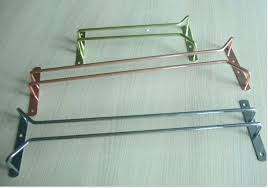 single row metal wine glass holder hanging racks rack under cabinet