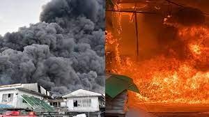 ยังคุมไม่อยู่! ไฟไหม้โรงงานควันดำทะมึนพวยพุ่งขึ้นฟ้า เห็นชัดทั่วกรุง(คลิป)  - ข่าวสด