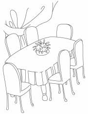 table clipart black and white. dinner table clipart black and white c