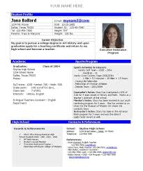 Gallery Of College Admission Resume Template Home College Planning