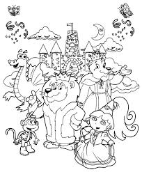 Coloriages De Dessins Anim S Princesse Dora