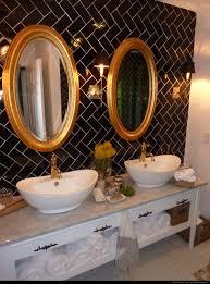 traditional black bathroom. Dear Genevieve Black, White, And Gold Bathroom Traditional Black