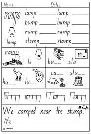 However, now students are asked to write the sounds of each word as well as read and color the image. Activity Sheet Final Blend Mp Studyladder Interactive Learning Games