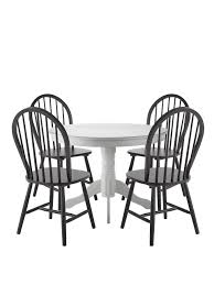 Dining Table Co Kentucky White Dining Table 4 Black Chairs White Dining Table