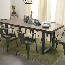 Dining Table With Contemporary Stainless Steel BaseStainless Steel Top Dining Table