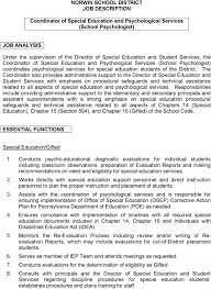 Norwin School District Job Description Coordinator Of