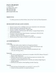 Military Police Officer Resume Sample Images Templates Template