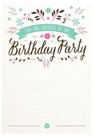 free birthday invitation template for kids best 25 free birthday invitation templates ideas on pinterest