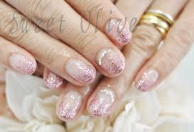 きらきら可愛いピンクのラメグラデーションネイル 千歳烏山芦花