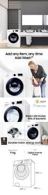 Máy giặt cửa trước AddWash 9kg (WW90K54E0UW) | WW90K54E0UW/SV | Samsung  Việt Nam | Máy giặt, Samsung, Cửa sổ