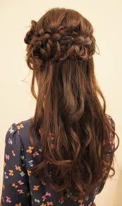 デート 髪型 ハーフアップ