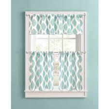 better homes and gardens aqua ikat diamonds kitchen curtains set of 2 com