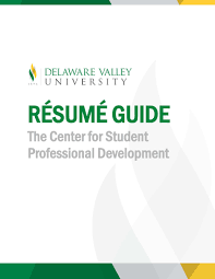 resumes delaware valley university cspd resume guide