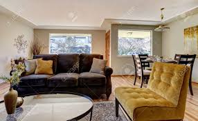Yellow Brown Living Room Gray And Yellow Furniture Zampco