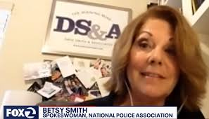 Law Enforcement Trainer and NPA Contributor Sgt. Betsy Smith Interviewed by  KTVU TV on Palo Alto's Cop Killer Mural | National Police Association
