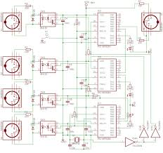 updating an 80 s analog synthesizer using pic microcontrollers midi merger schematic using pic16f628